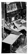 Radio Operator Operates His Scr-188 Bath Towel