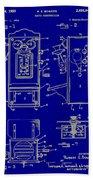 Radio Phone Patent Bath Towel