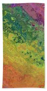 Rainbow Abstract Bath Towel