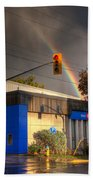 Rainbow On Bank Bath Towel