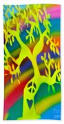 Rainbow Roots Bath Towel