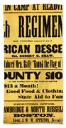 Recruiting Poster, 1863 Bath Towel