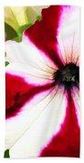 Red And White Petunia Bath Towel