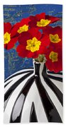 Red And Yellow Primrose Bath Towel