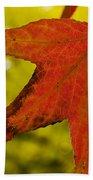 Red Autumn Leaf Bath Towel