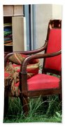 Red Chair Bath Towel