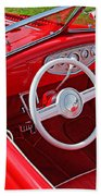 Red Classic Car Bath Towel