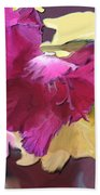 Red Flower In The Abstract Bath Towel