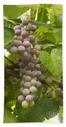 Red Grapes On The Vine Bath Towel