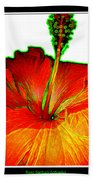 Red Hibiscus With Special Effects Bath Towel