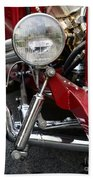Red Hot Rod- Light And Chrome Bath Towel