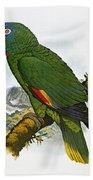 Red-necked Amazon Parrot Bath Towel