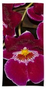 Red Orchids Bath Towel