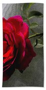 Red Paris Rose Bath Towel