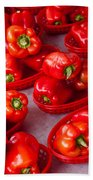 Red Peppers Bath Towel