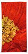 Red Poppy Bath Towel