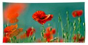Red Poppy Flowers 06 Hand Towel