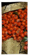 Red Pyracantha Berries Bath Towel