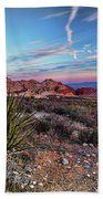 Red Rock Sunset Bath Towel