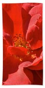 Red Rose Summer Bath Towel