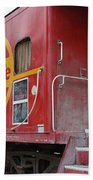 Red Sante Fe Caboose Train . 7d10334 Bath Towel