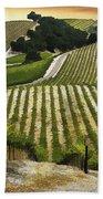 Red Soles Vineyard Bath Towel
