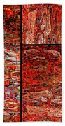 Red Splashes Swishes And Swirls - Abstract Art Bath Towel
