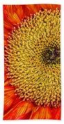 Red Sunflower Iv Bath Towel