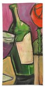 Red Wine Poster Bath Towel