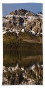 Reflections On Red Eagle Mountain Hand Towel