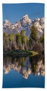 Reflections On Schwabacher Landing Hand Towel