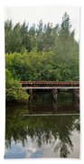 Reflections On The North Fork River Bath Towel