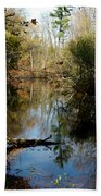 Reflective River Thoughts Bath Towel