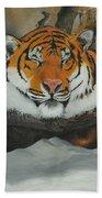 Resting Tiger Bath Towel