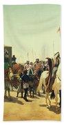 Richard Coeur De Lion On His Way To Jerusalem Hand Towel
