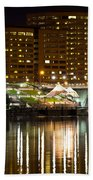 River Front At Night Bath Towel
