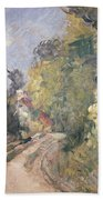 Road Turning Under Trees Bath Towel