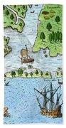 Roanoke Landing, 1585 Bath Towel