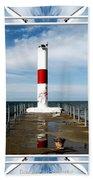 Rochester New York Harbor Lighthouse Bath Towel