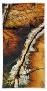 Rock Detail, Killarney Provincial Park Bath Towel