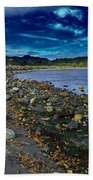 Rocky Beach In Western Canada Bath Towel