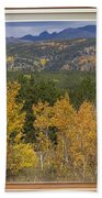 Rocky Mountain Autumn Picture Window Scenic View Bath Towel