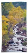 Rocky Mountain Golden Canyon Scenic View Bath Towel