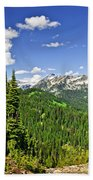 Rocky Mountain View From Mount Revelstoke Hand Towel