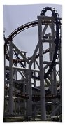 Roller Coaster Rides Inside The Universal Studio Park In Sentosa Bath Towel