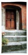 Roman Door And Steps Rome Italy Bath Towel