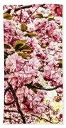 Romantic Cherry Blossoms Bath Towel