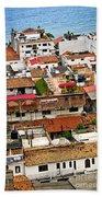 Rooftops In Puerto Vallarta Mexico Bath Towel
