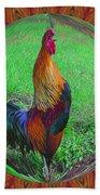 Rooster Colors Bath Towel