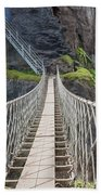 Rope Bridge At Carrick-a-rede In Northern Island Bath Towel